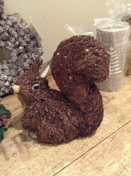 Gisela Graham Christmas Glittery Bristle Squirrel